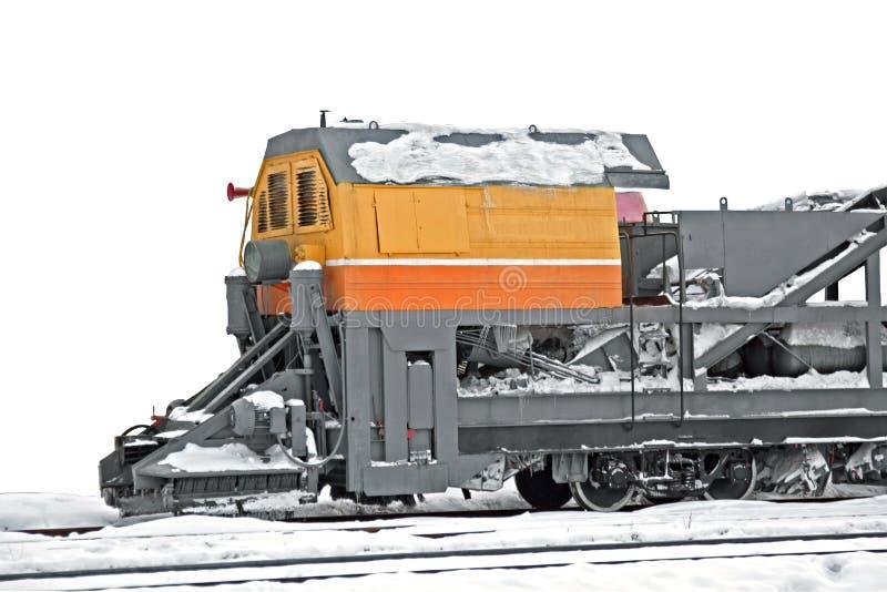 Train de déblaiement de neige image stock