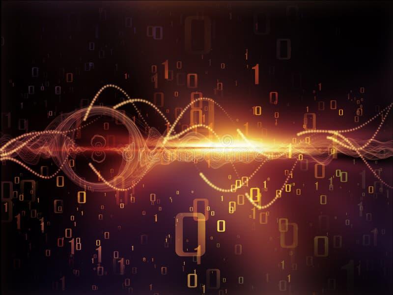 Train de données de données illustration de vecteur