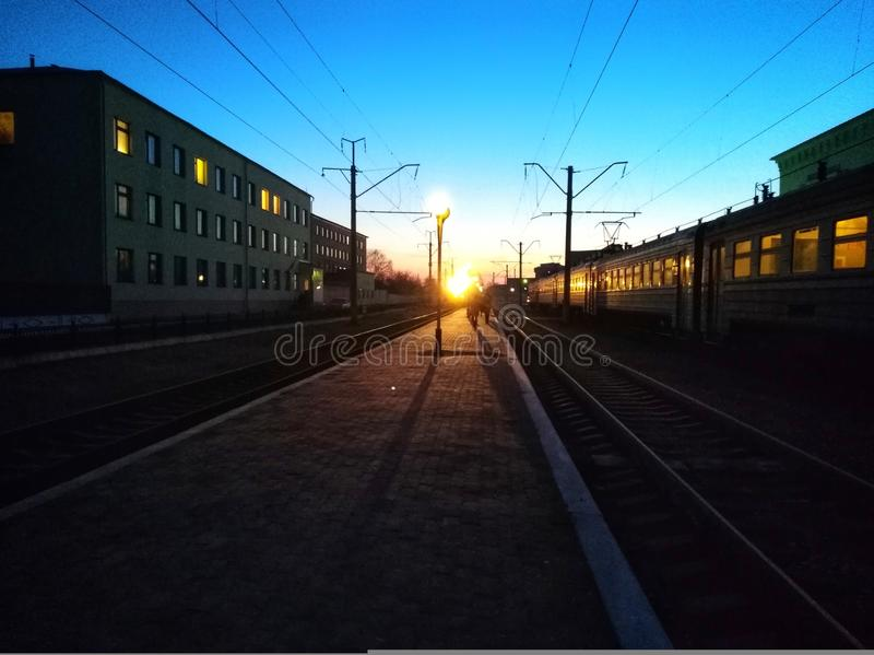 Train de matin image stock