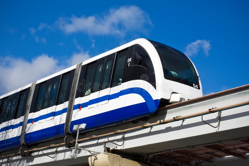 Train de monorail image stock