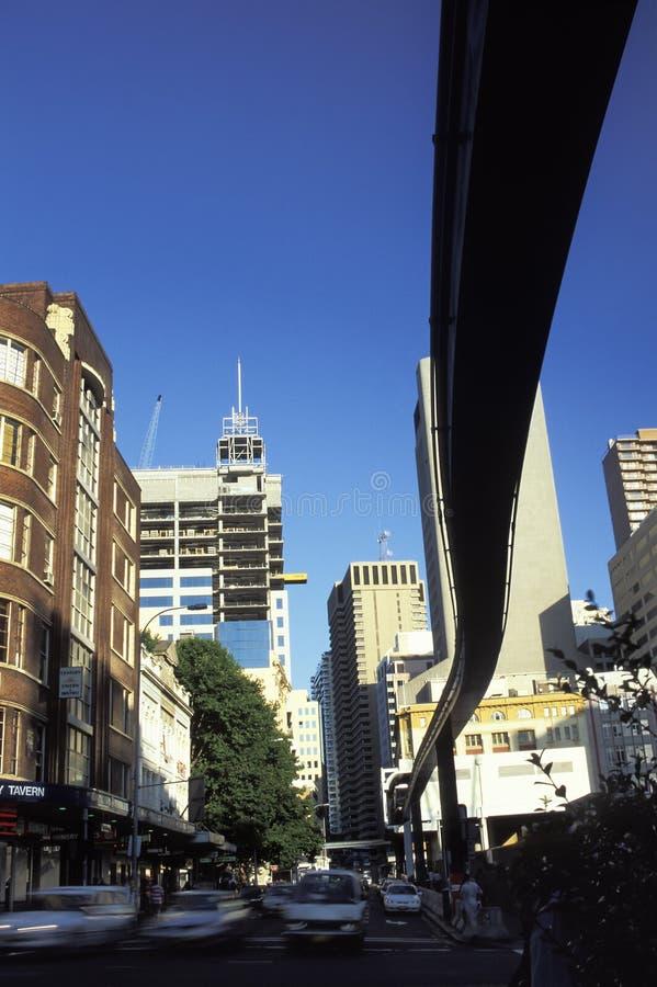 Train de monorail de Sydney photo libre de droits