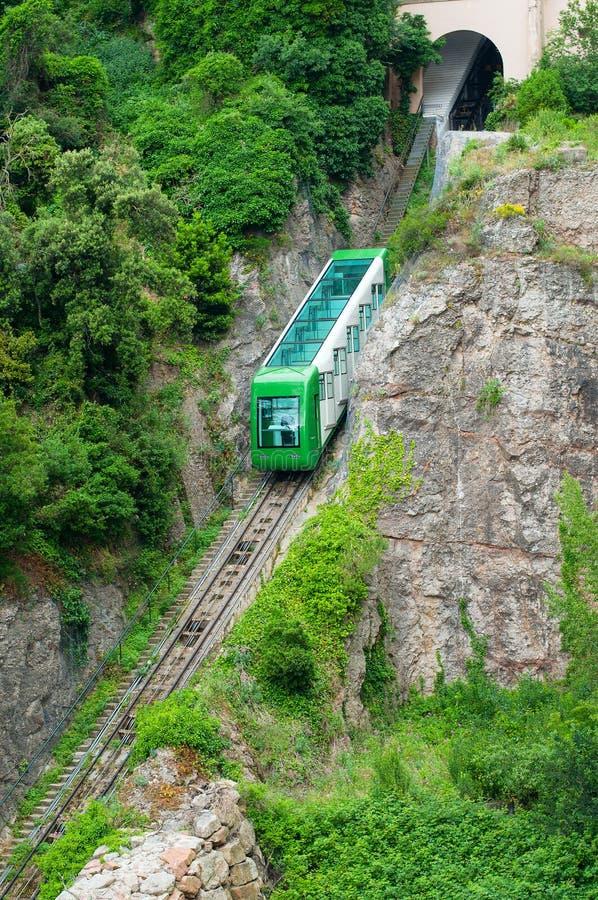 Train de montagne de Montserrat photo libre de droits