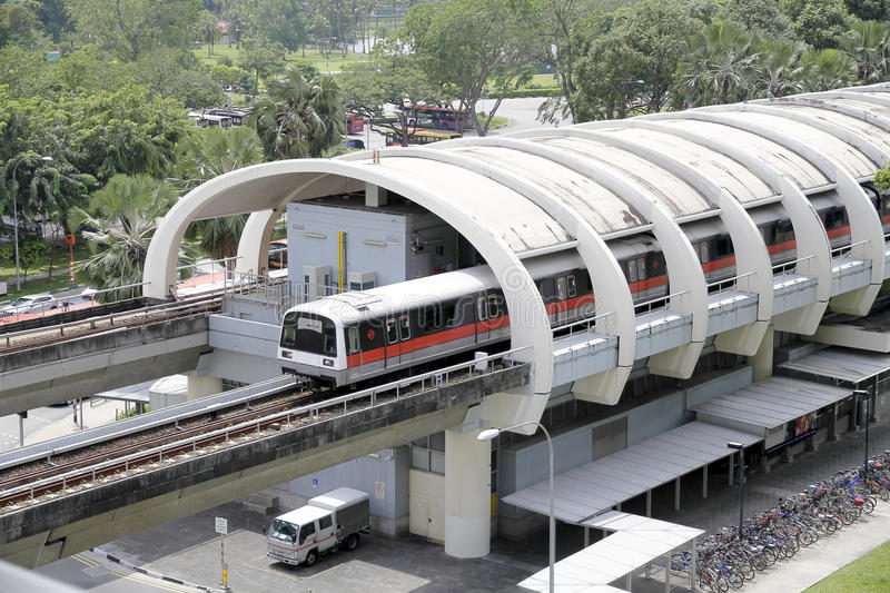 Train de MRT de Singapour photo stock