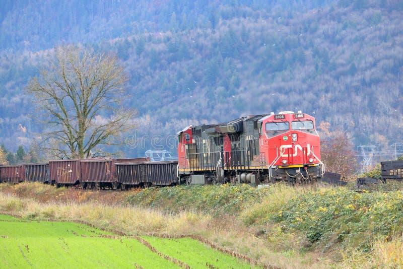 Train de NC sur son chemin à la côte ouest photographie stock libre de droits