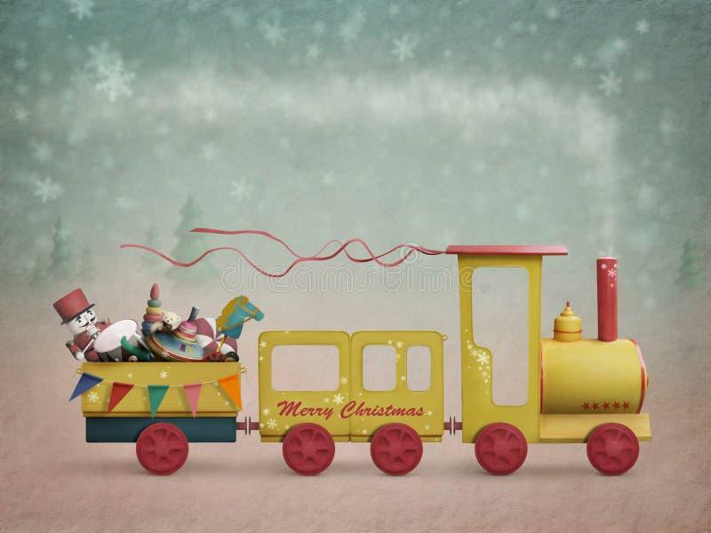 Train de Noël illustration libre de droits