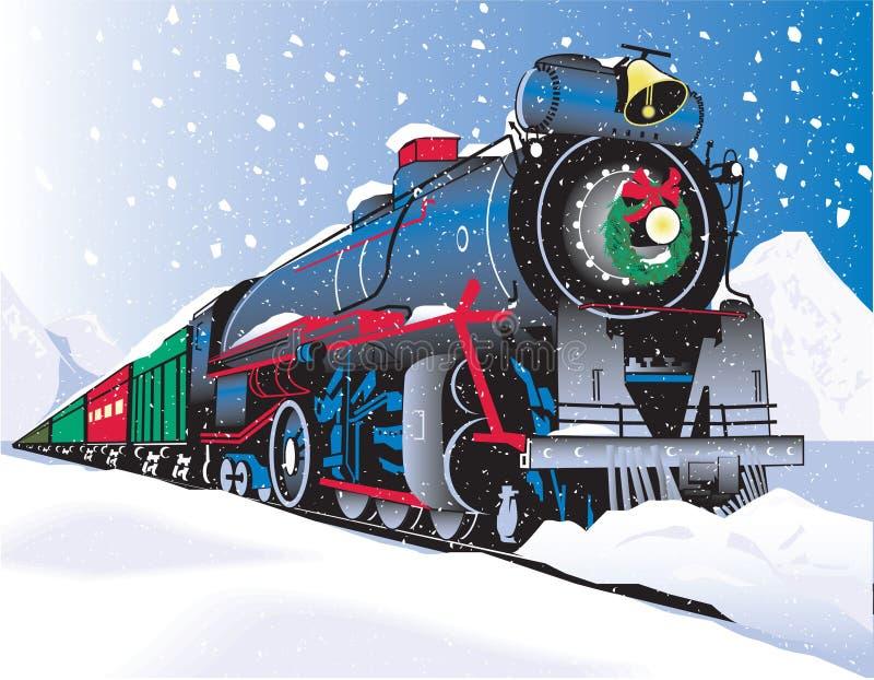 Train de Noël illustration de vecteur