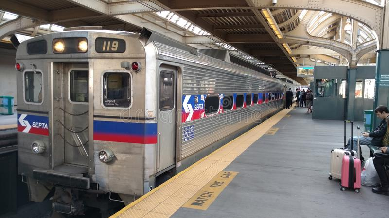Train de Philly images libres de droits