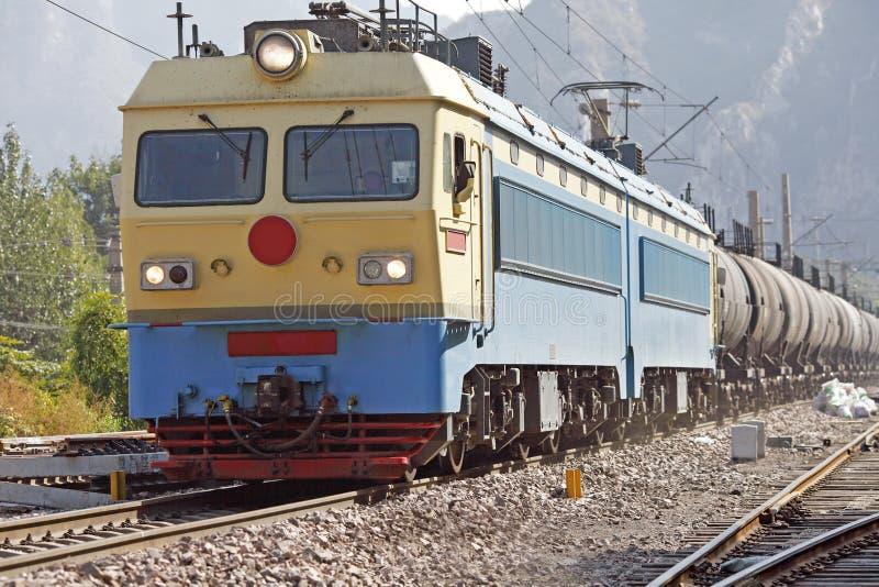 Train de réservoir d'huile photographie stock