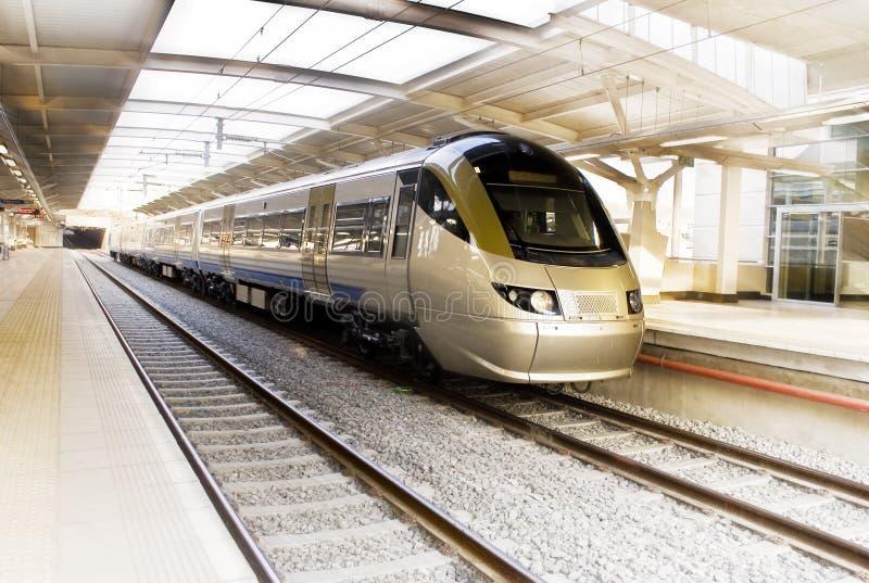 Train de remboursement in fine, Afrique du Sud - Gautrain image stock