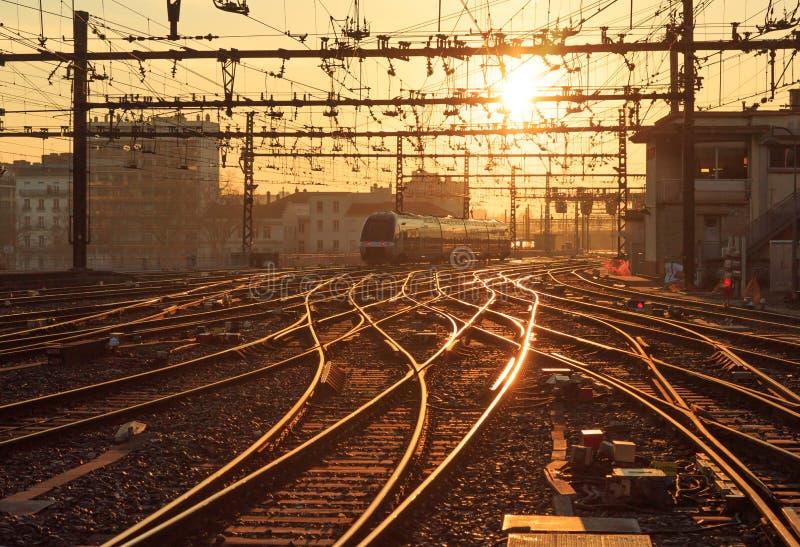 Train de soleil photos stock