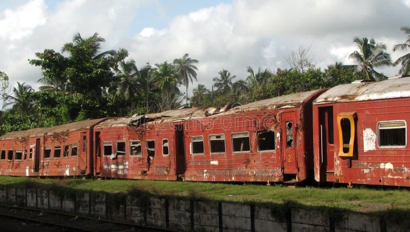 Train de tsunami image libre de droits