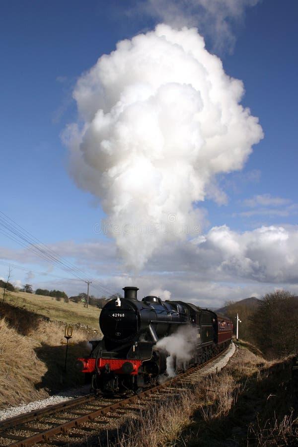 Train de vapeur dans le pays de Bronte images stock