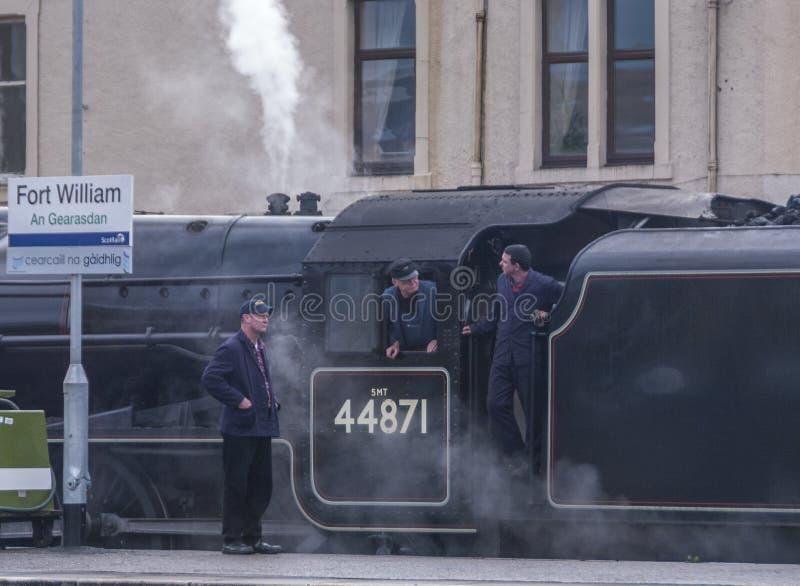 Train de vapeur de Jacobite photos libres de droits