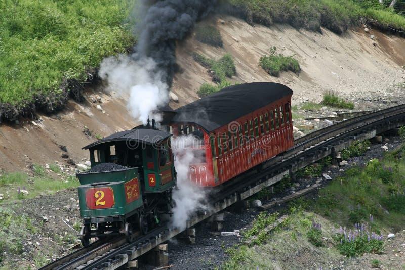 Train de vapeur de Washington de support photo libre de droits