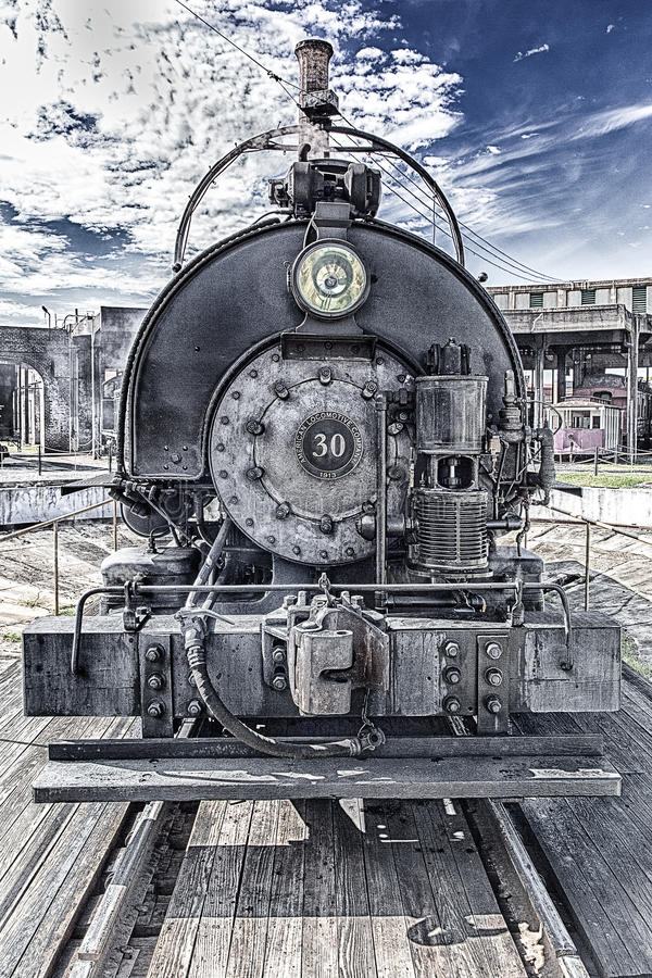 Train de vapeur # 30, Savannah Railroad Museum images libres de droits