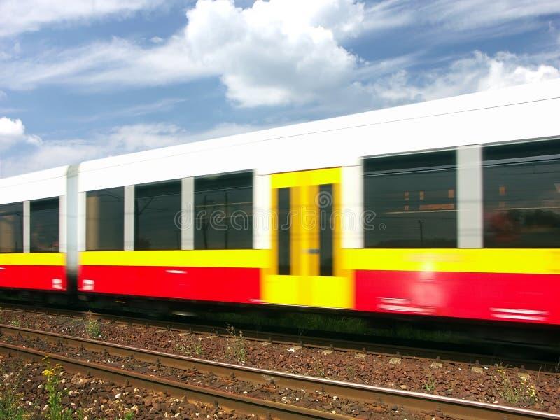 Train de vitesse images stock