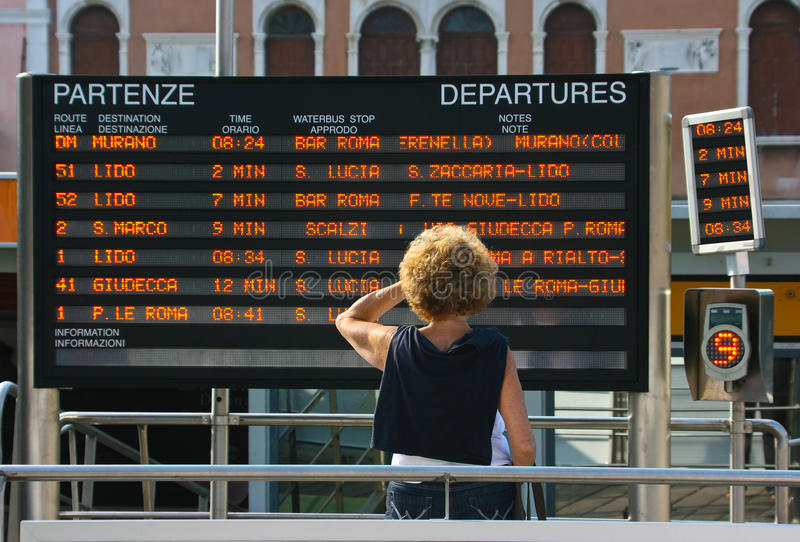 Download Train Departure Information Editorial Stock Image - Image: 20309839