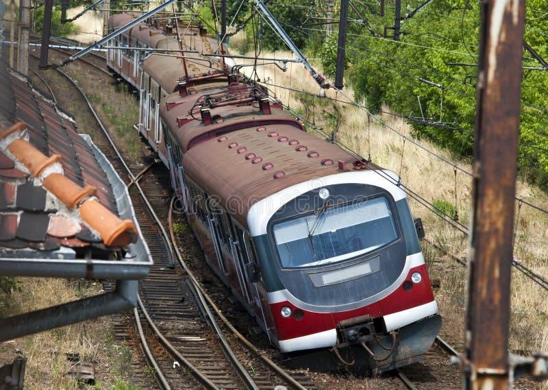 Train derailment stock photo