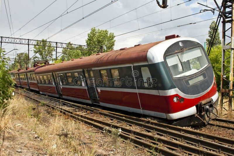 Train derailment stock image