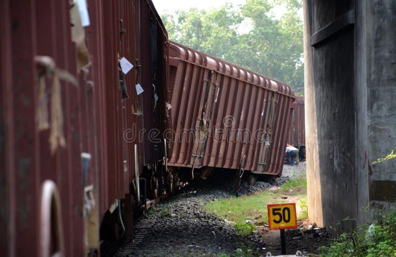 Train derailment royalty free stock photography