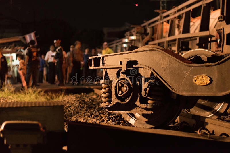 Train Derailment in Nakhon Ratchasima, Thailand. 10/7/2017 stock photos