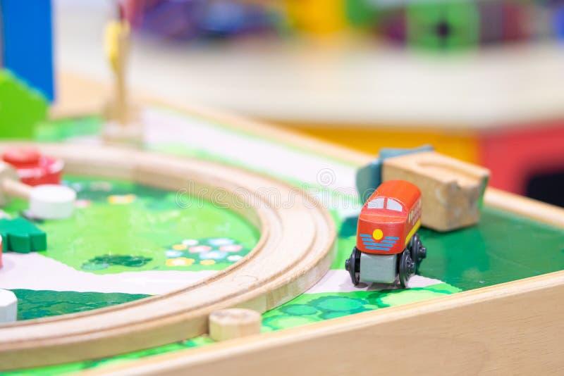 Train derailment, Wooden Toy model royalty free stock photo