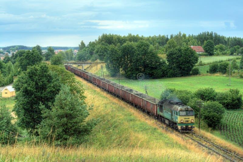 Train diesel de fret photos stock