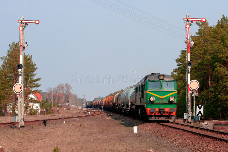 Train diesel de fret photos libres de droits