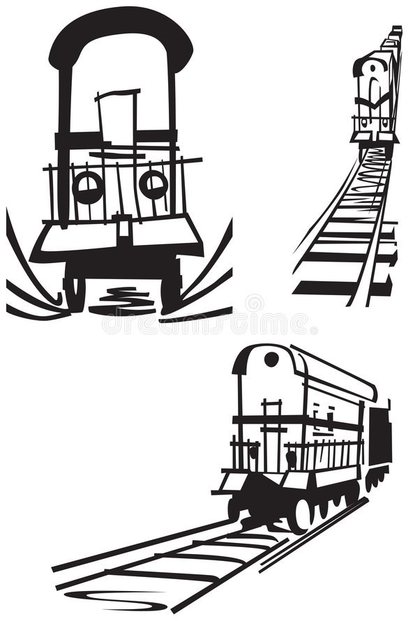 Line Drawing Train : Train drawing stock illustration of line
