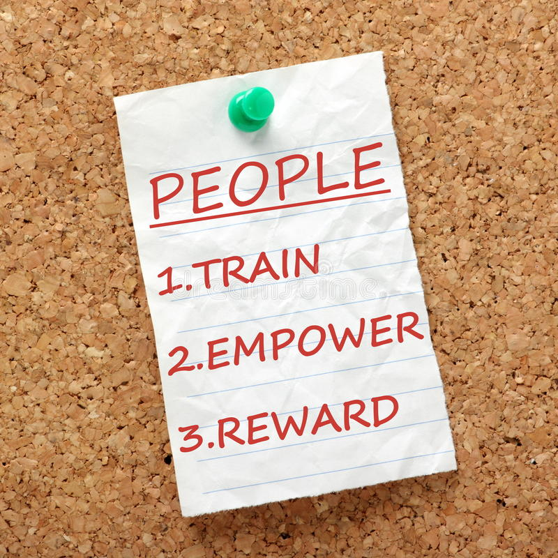 Train, Empower and Reward royalty free stock photography