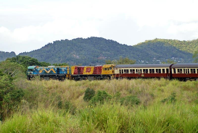 Train en Barron Gorge National Park image libre de droits