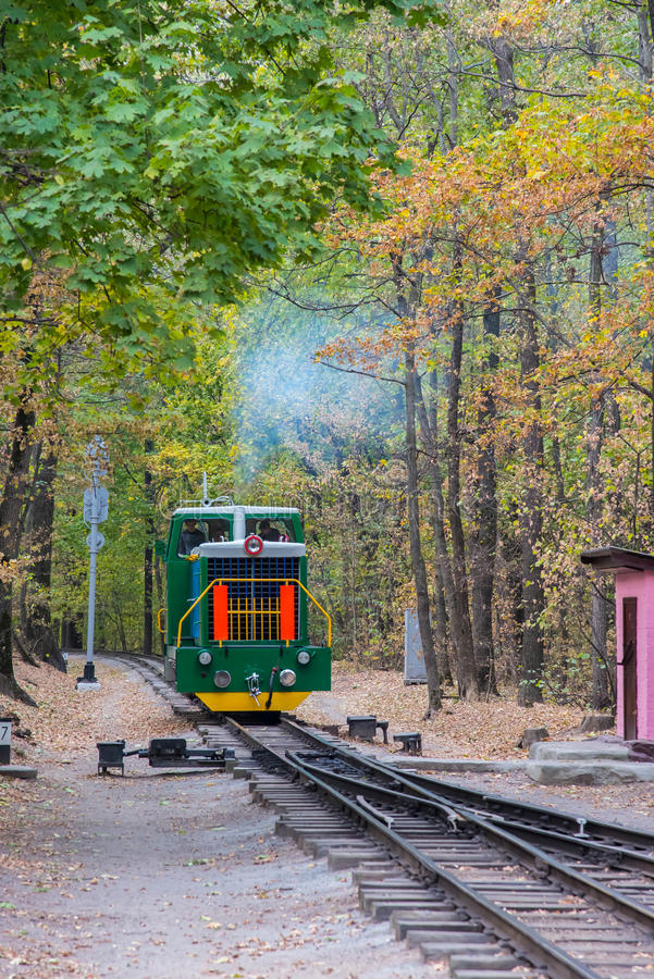 The train from a fairy tale stock photo