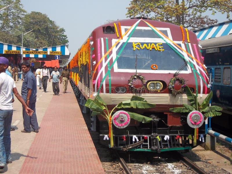 Train ferroviaire indien images libres de droits