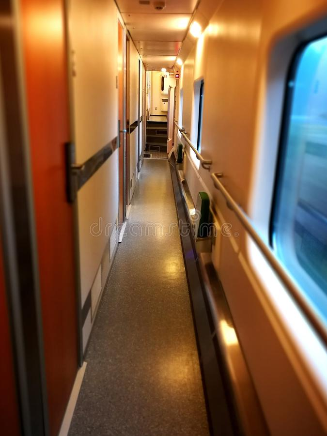 Train in Finland inside view royalty free stock photos