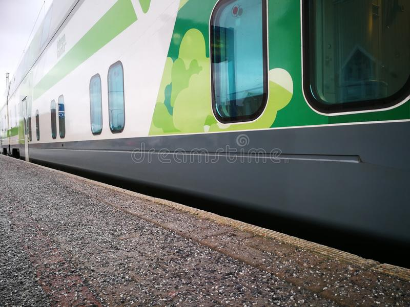 Train in Finland inside view stock photos