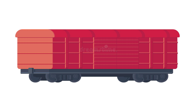 Train freight railway car. Rail freight. Vector illustration. Train freight railway car. Rail freight. Vector illustration isolated on white stock illustration