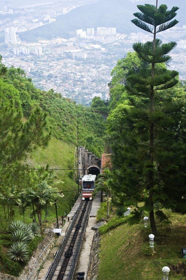 Train funiculaire de côte de Penang photo stock