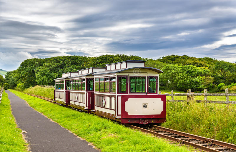 Train at the Giant's Causeway and Bushmills Railway, Northern Ir. Eland royalty free stock photography