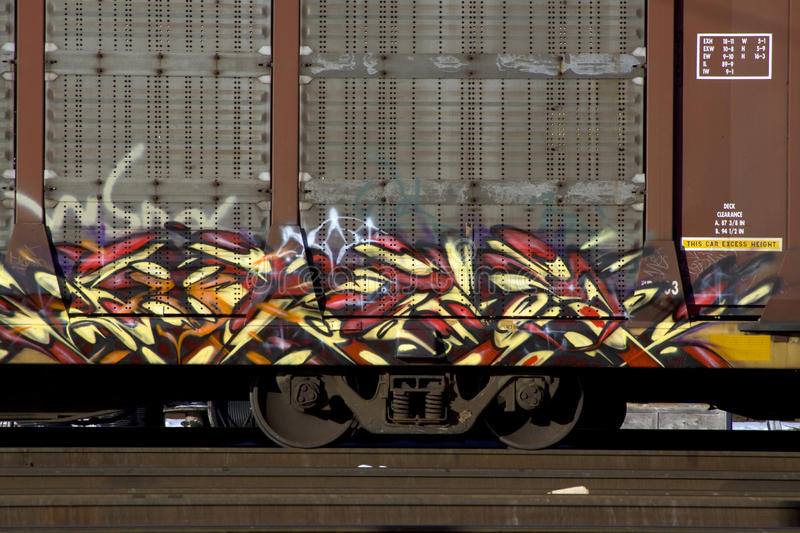 Train Graffiti Royalty Free Stock Photos