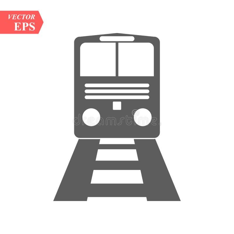 Train icon.train vector on gray background .Transport icons.transportation vector illustration vector illustration