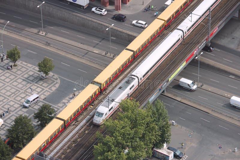 Train interurbain de l'Allemagne images libres de droits