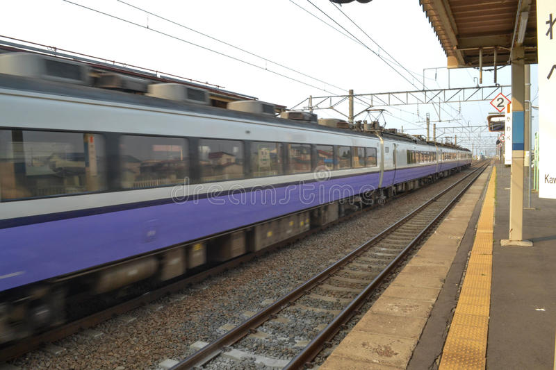 The Train in japan stock photography