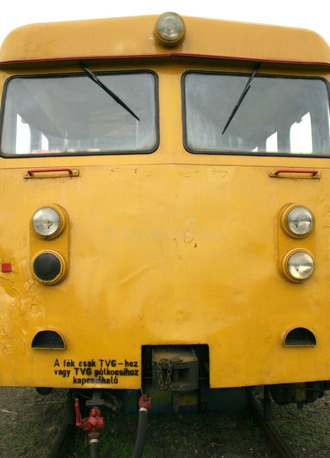 Train jaune photo stock