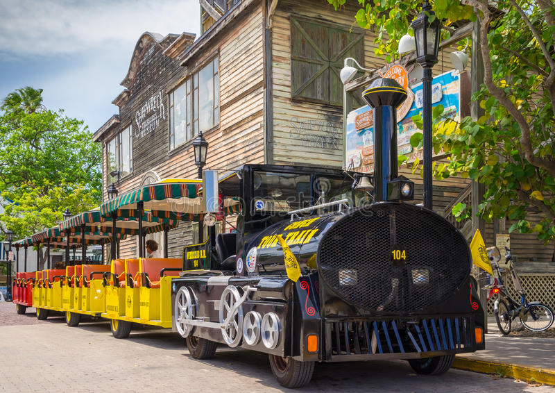 Train Key West la Floride de visite de conque photographie stock libre de droits