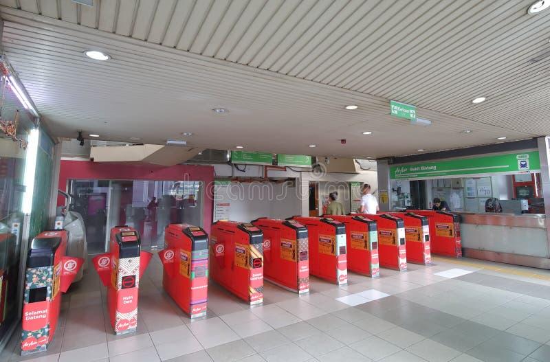 Train Kuala Lumpur Malaysia de monorail de kilolitre photographie stock