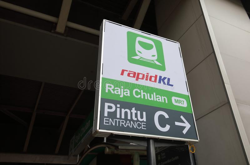 Train Kuala Lumpur Malaysia de monorail de kilolitre photographie stock libre de droits