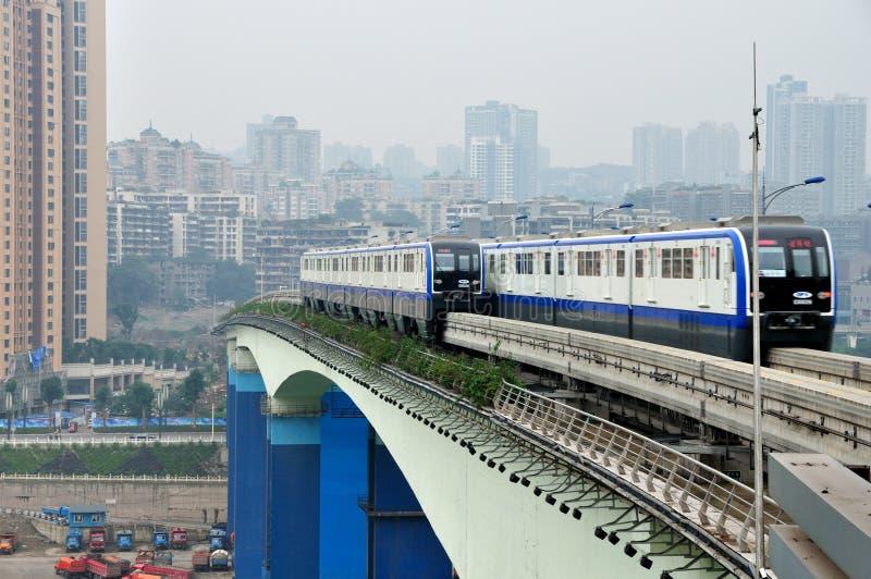 Train léger de longeron photographie stock