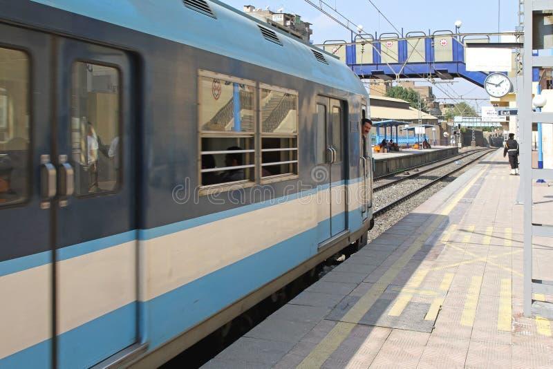 Train le Caire de métro photos stock