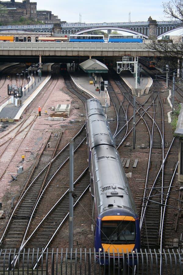 Download Train Leaving Railway Station Stock Image - Image: 2308241