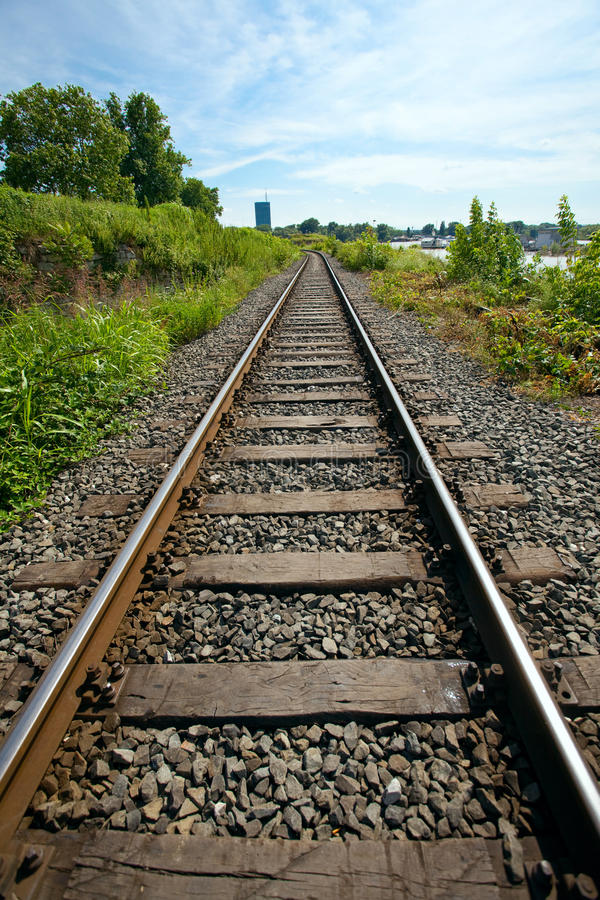 Train line stock image